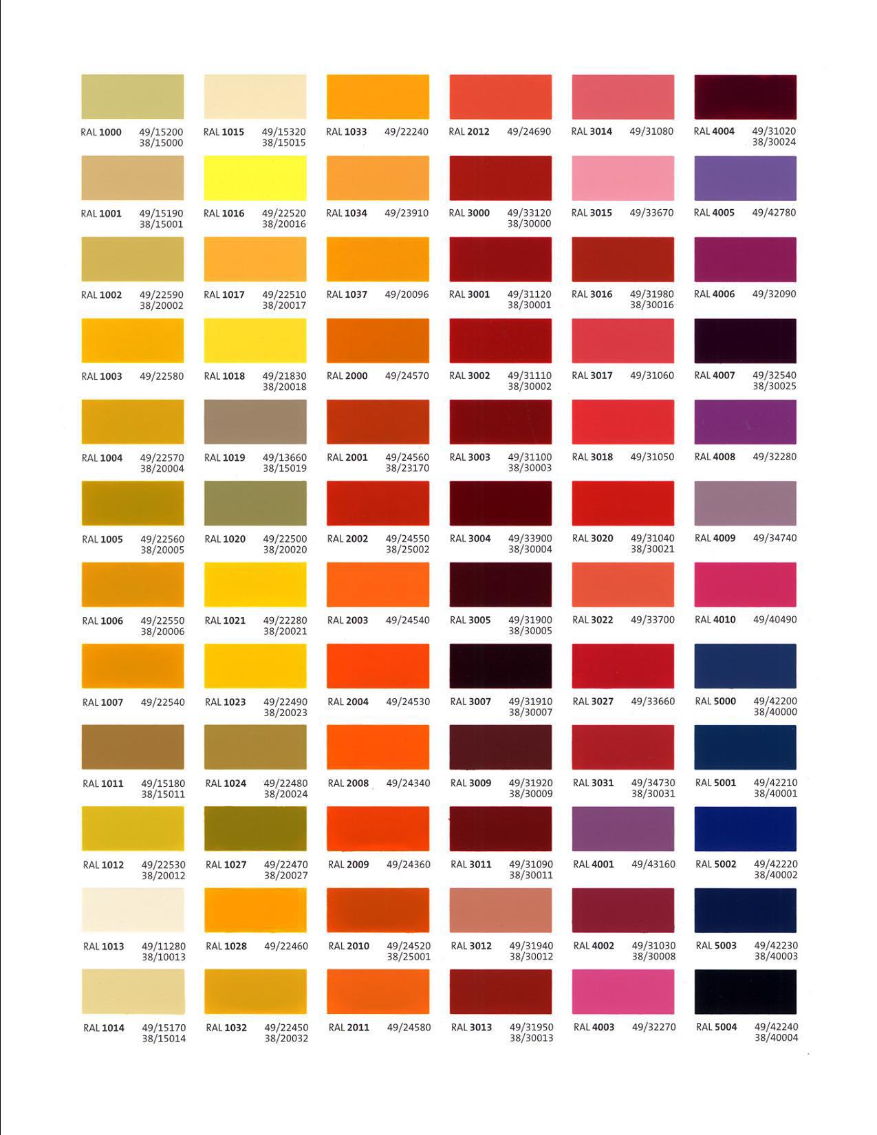 Названия цветов краски фото