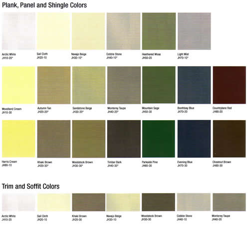 Aluminum siding aluminum siding paint colors for Popular vinyl siding colors